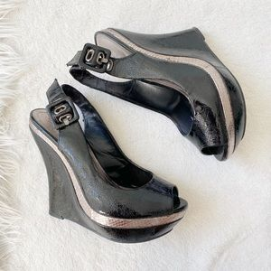 Baker black wedge, Size 6